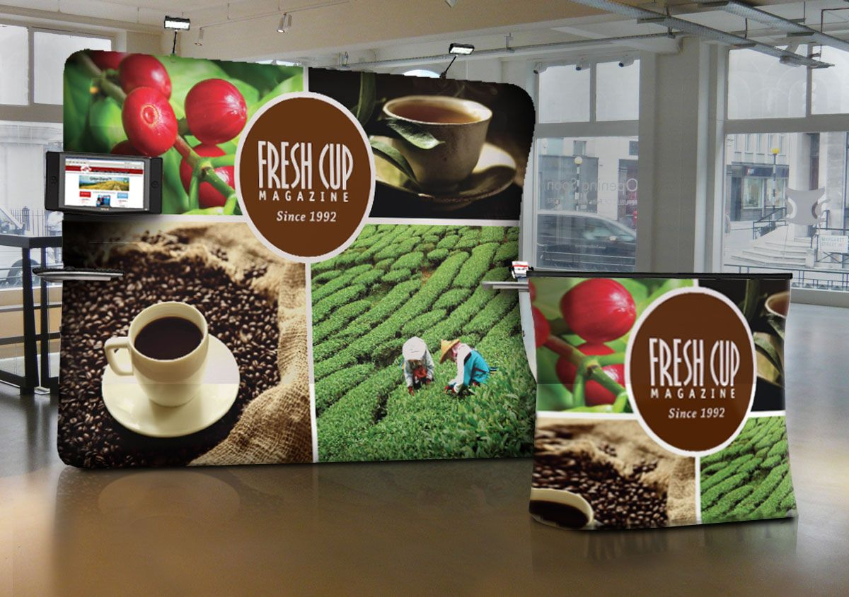 Fresh Cup Pillowcase Display with Case to Counter and Counter Wrap